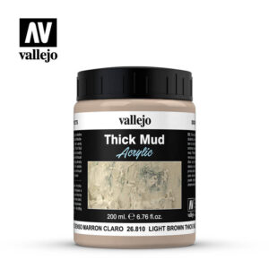 diorama effects vallejo light brown thick mud 26810