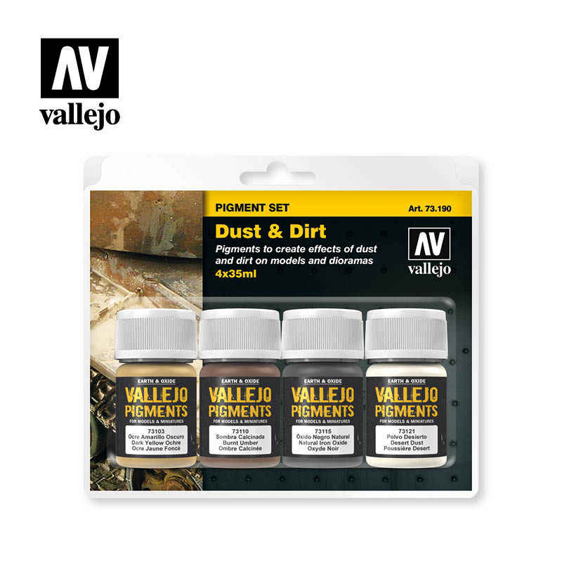 dust and dirt vallejo pigments set 73190