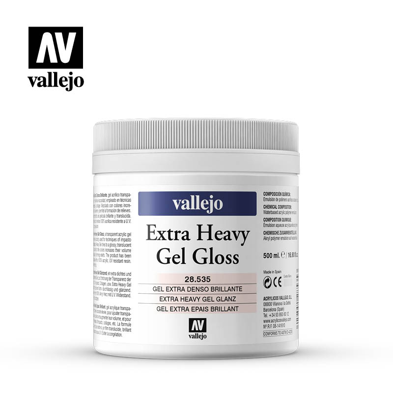 extra heavy gel gloss vallejo 28535 500ml