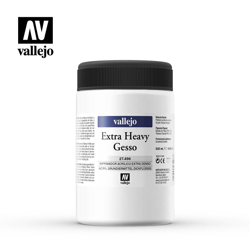 extra heavy gesso 27496 vallejo 500ml