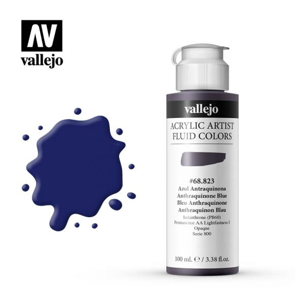 Fluid Acrylic Vallejo Anthraquinone Blue 68823 100ml