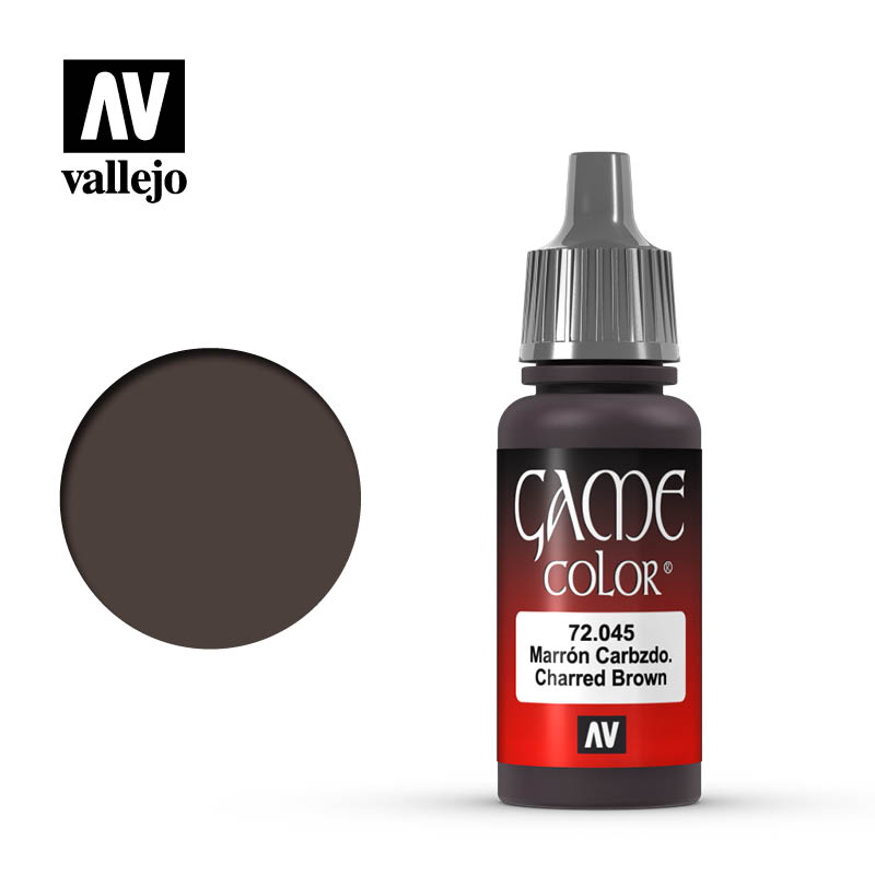game color vallejo charred brown 72045