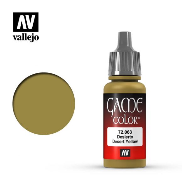 game color vallejo desert yellow 72063