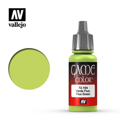game color vallejo fluorescent green 72104