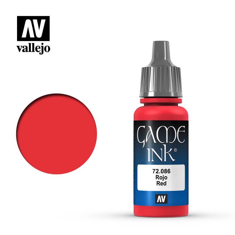 game color vallejo red ink 72086