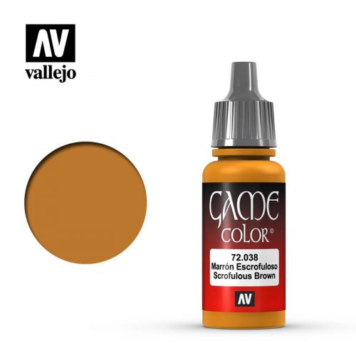 game color vallejo scrofulous brown 72038