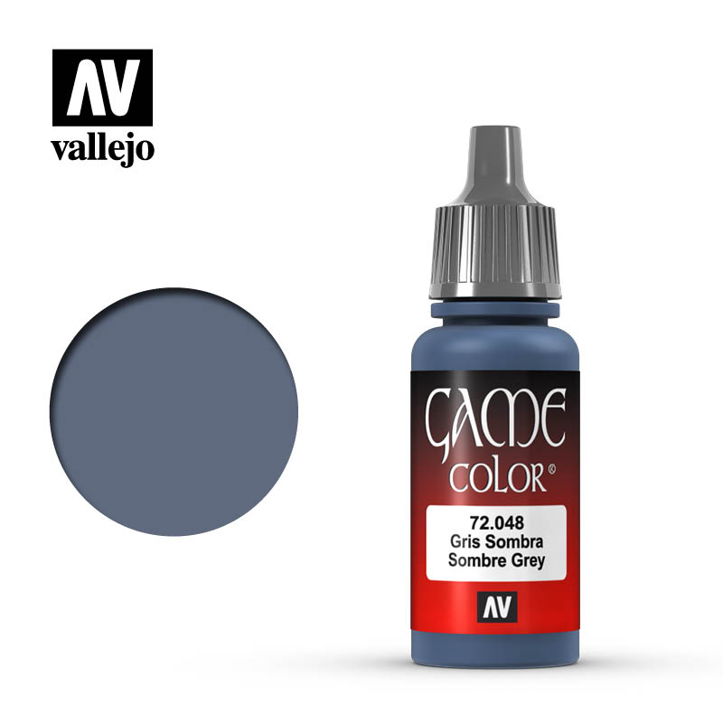 game color vallejo sombre grey 72048