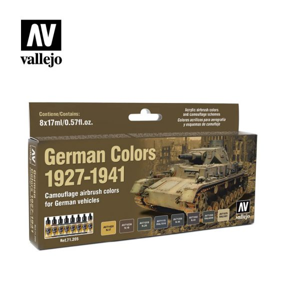 german colors 1927 1941 vallejo afv 71205