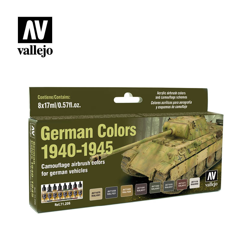 german colors 1940 1945 vallejo afv 71206