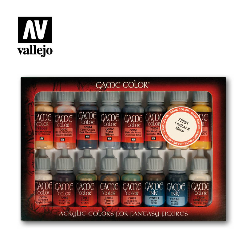 Leather and metal 72291 vallejo game color effects set