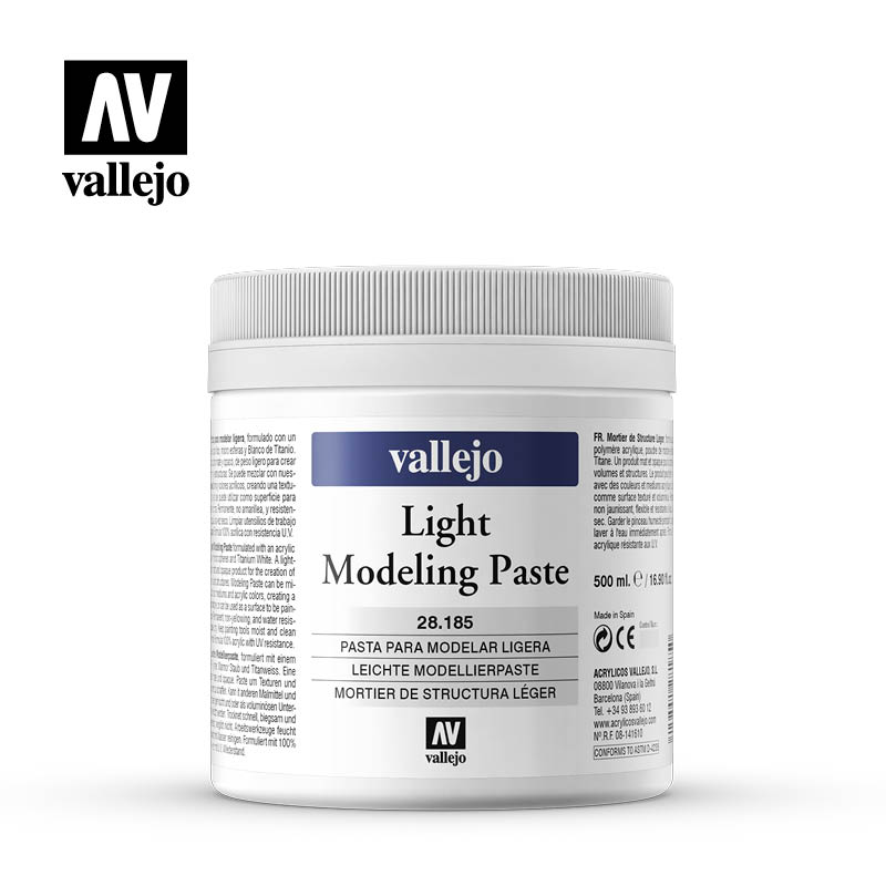 light modeling paste vallejo 28185 500ml