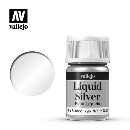 liquid white silver vallejo 70796