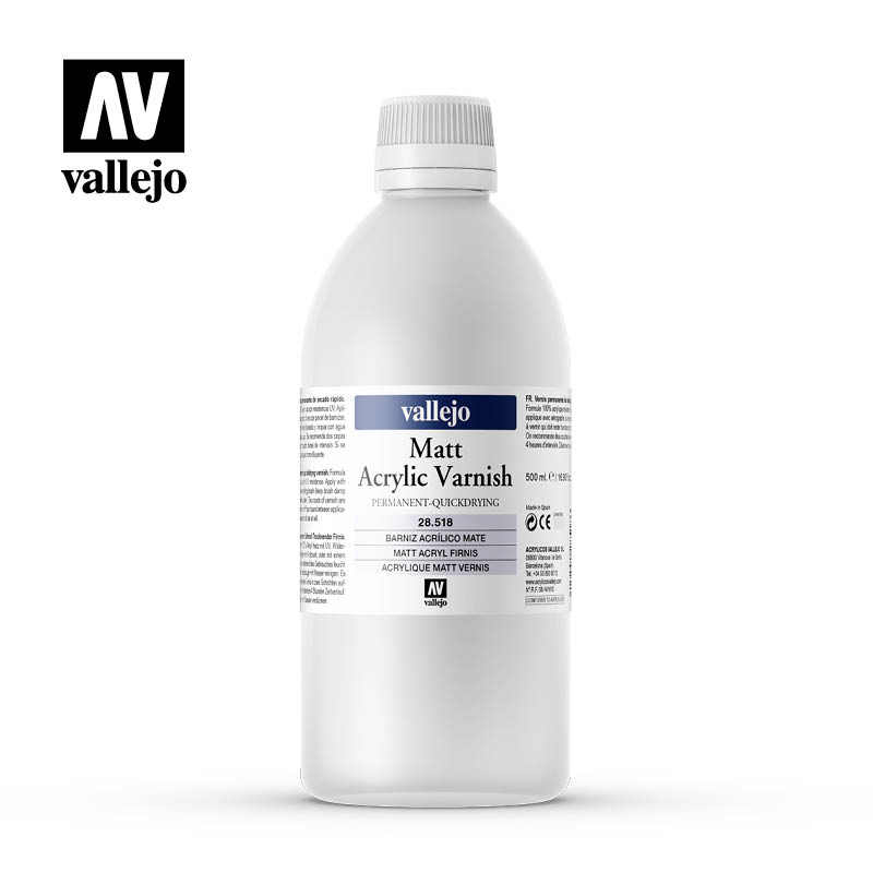 matt acrylic permanent varnish vallejo 28518 500ml