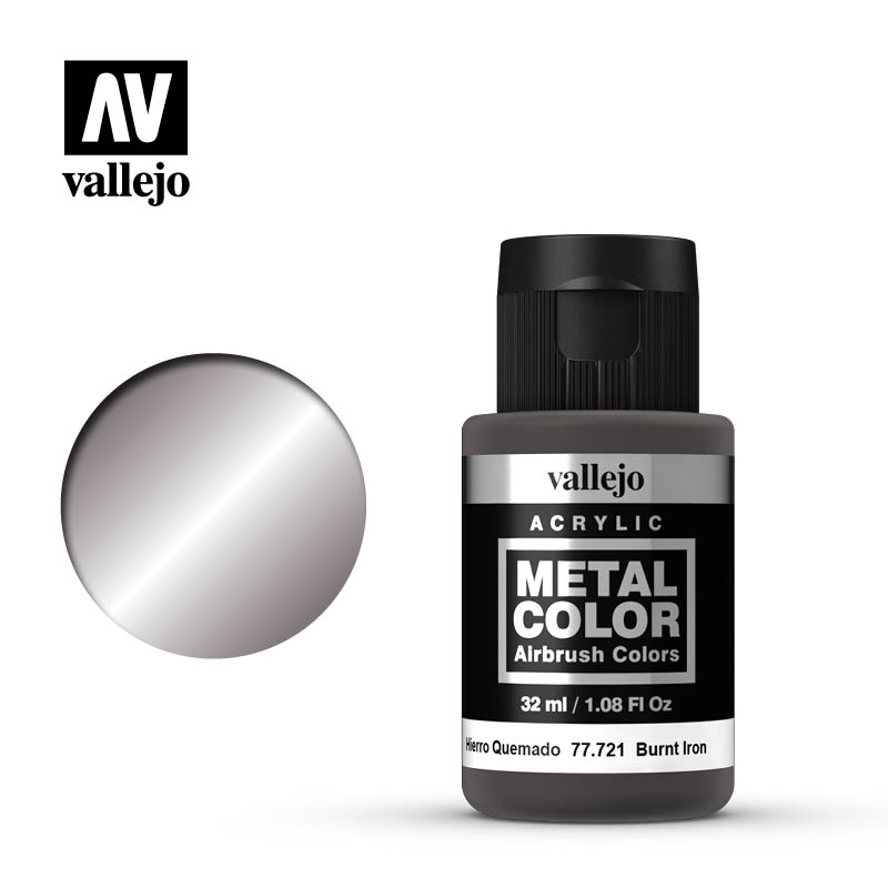 metal color vallejo burnt iron 77721