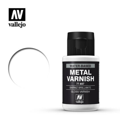 metal color vallejo gloss metal varnish 77657
