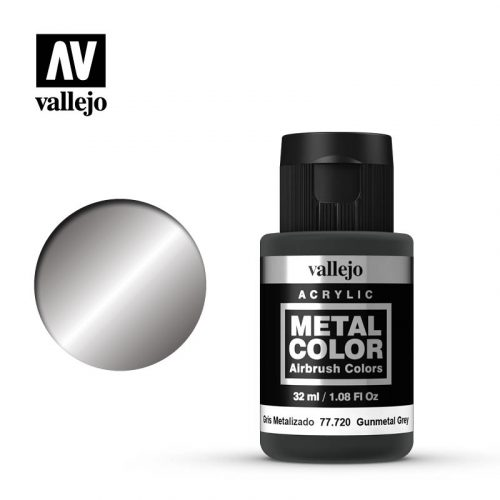 metal color vallejo gunmetal grey 77720