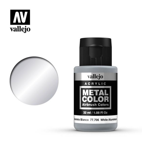 metal color vallejo white aluminum 77706