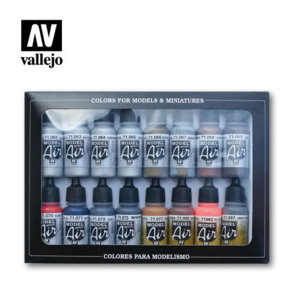 Metallic Effects 71181 vallejo model air effects set