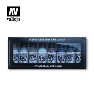 Metallic model air colors 71176 vallejo effects set