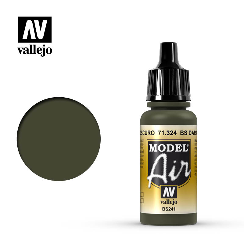 model air vallejo bs dark green 71324
