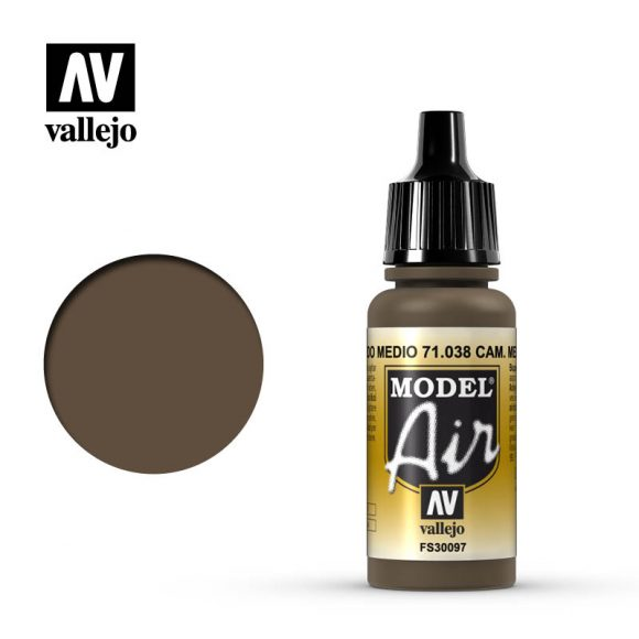 model air vallejo camouflage medium brown 71038