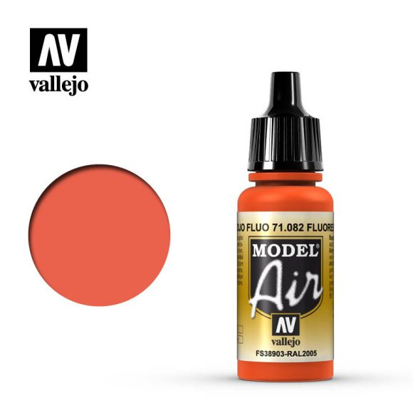model air vallejo fluorescent red 71082
