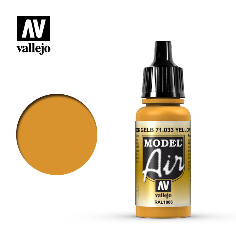 model air vallejo ral1006 yellow ochre 71033