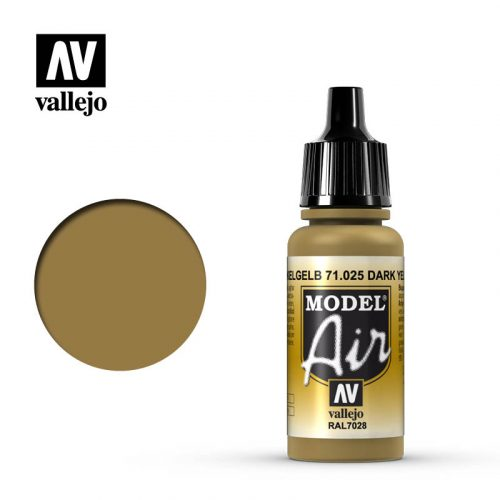 model air vallejo ral7028 dark yellow 71025