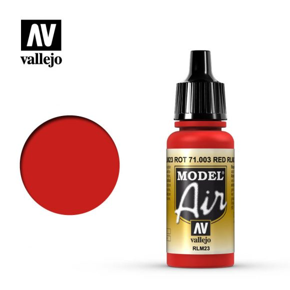model air vallejo rlm23 red 71003