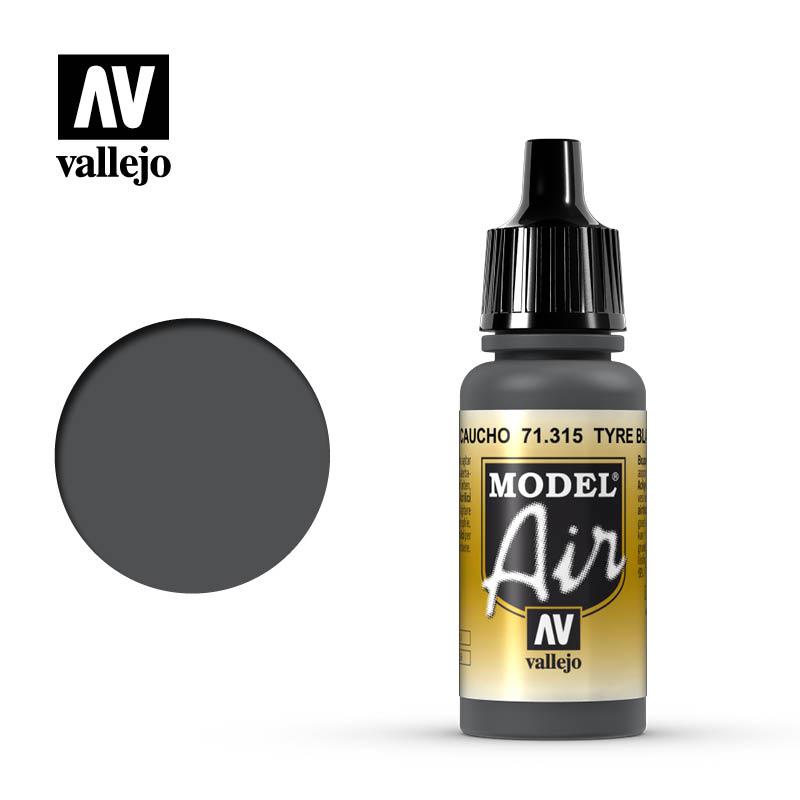 model air vallejo tire black 71315