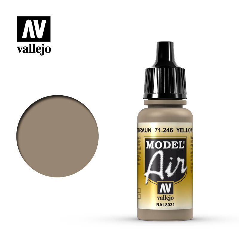 model air vallejo yellow brown 71246