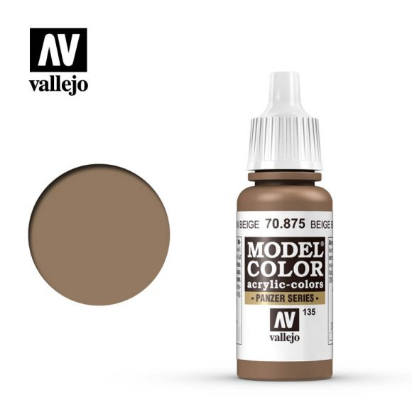 model color vallejo beige brown 70875