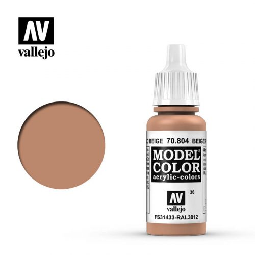 model color vallejo beige red 70804