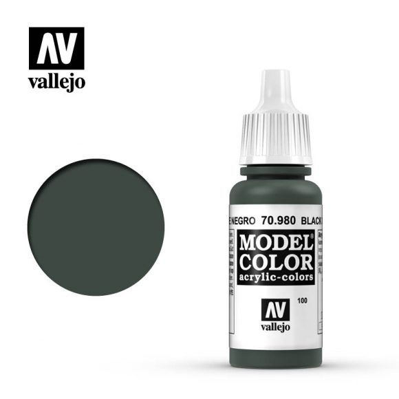 model color vallejo black green 70980