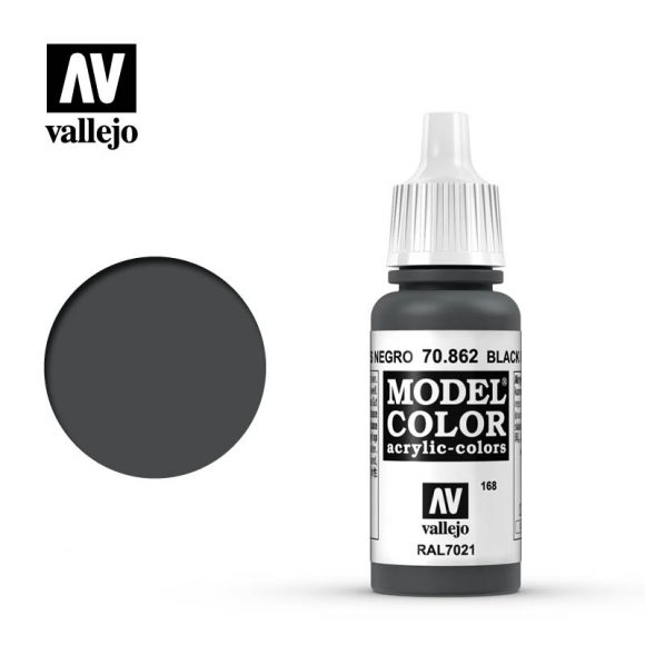 model color vallejo black grey 70862