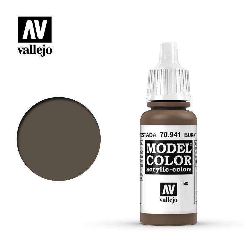 Vallejo Model Color Burnt Umber 70941 For Painting Miniatures