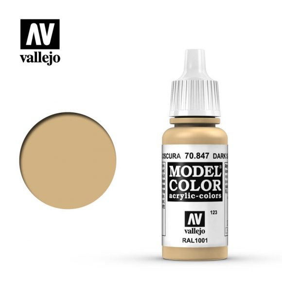 model color vallejo dark sand 70847