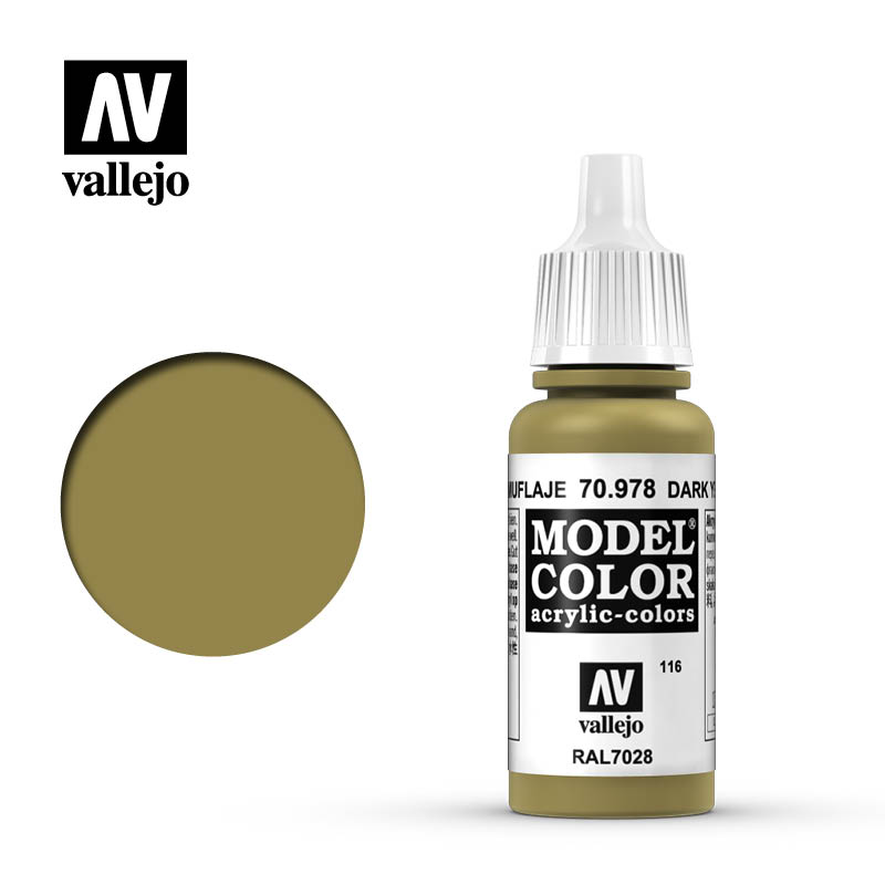 model color vallejo dark yellow 70978