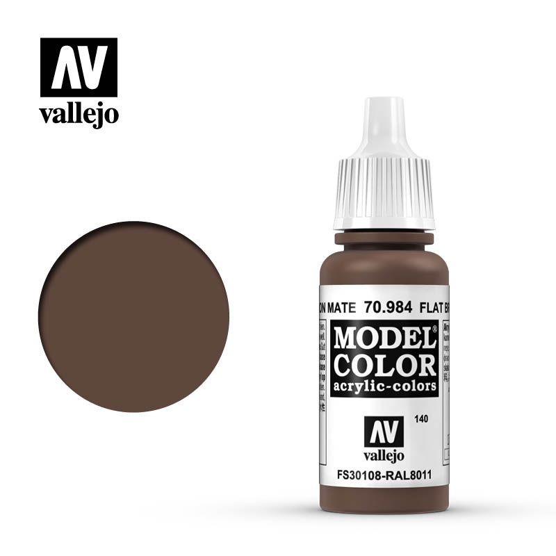 model color vallejo flat brown 70984
