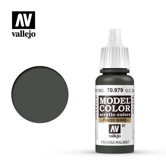 model color vallejo german camouflage dark green 70979