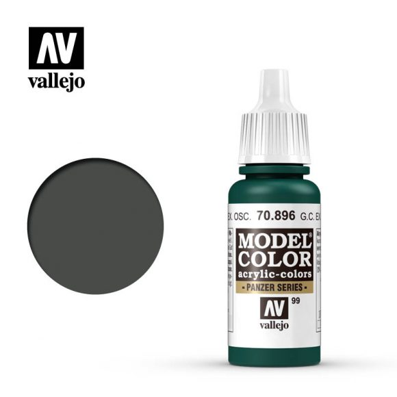 model color vallejo german camouflage extra dark green 70896