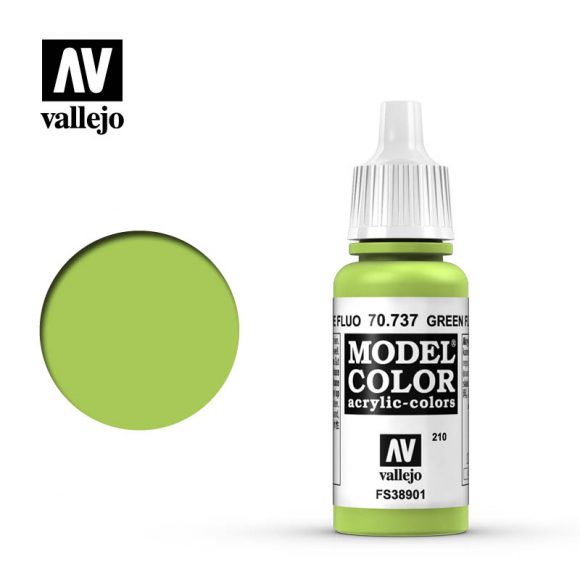 model color vallejo green fluorescent 70737