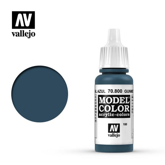 model color vallejo gunmetal blue 70800