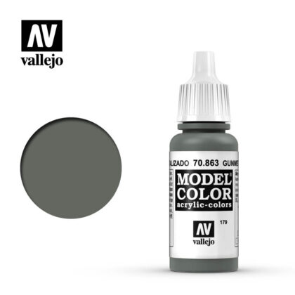model color vallejo gunmetal grey 70863