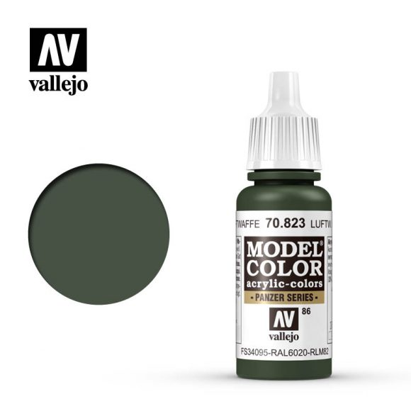 model color vallejo luftwaffe camouflage green 70823