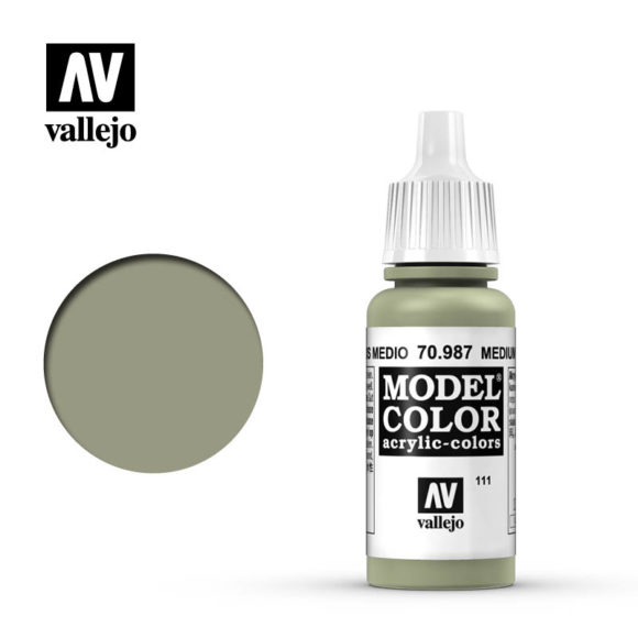 model color vallejo medium grey 70987 in 17ml bottle