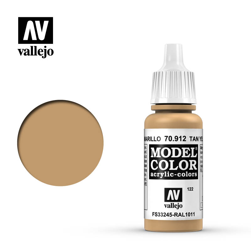 model color vallejo tan yellow 70912