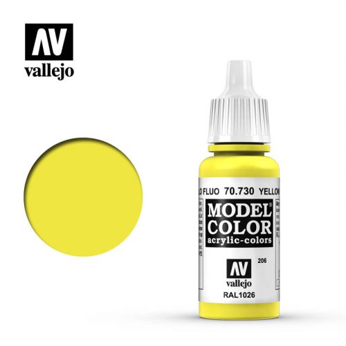 model color vallejo yellow fluorescent 70730