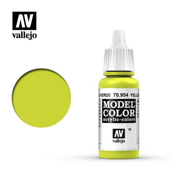 model color vallejo yellow green 70954