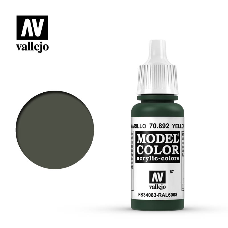 model color vallejo yellow olive 70892